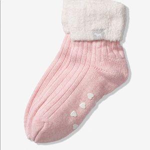 Pink cozy socks